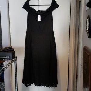 NWT black off-the-shoulder dress